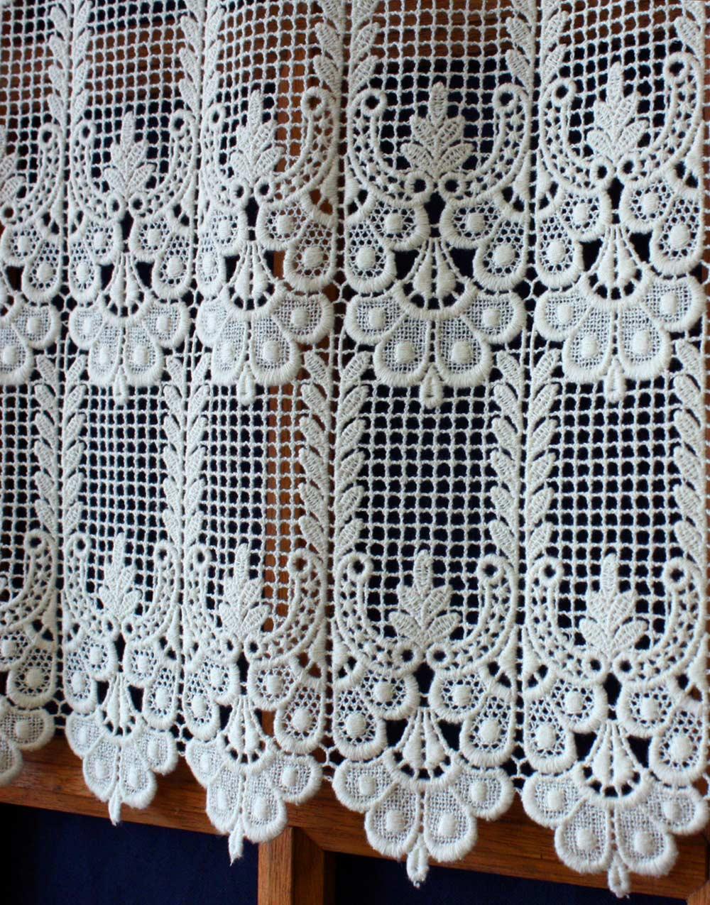 Delightful Bottom Of Annie Lace Curtain In Ecru