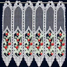 Strawsberries lace curtain