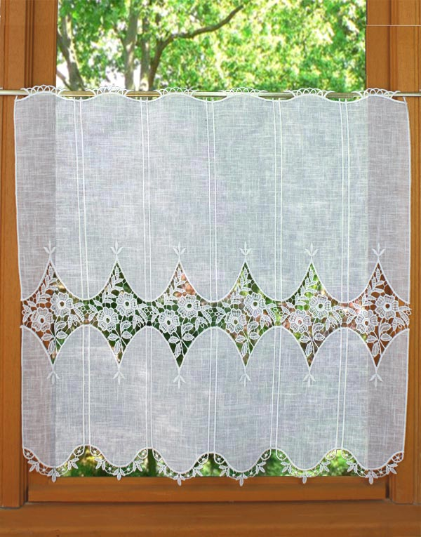 linen and macrame curtain