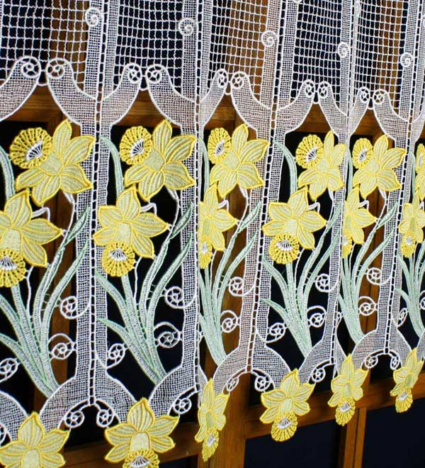 daffodils lace cafe curtain