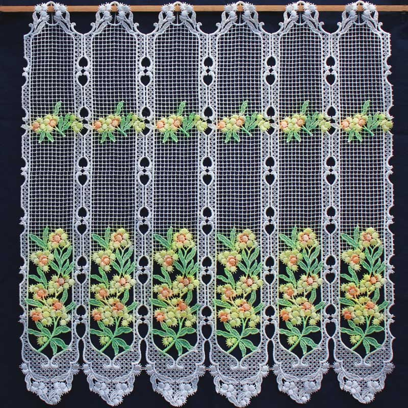 Tier kitchen mimosa curtain for Brise vue fenetre