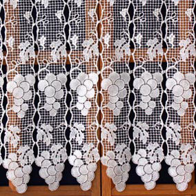 grapefruit lace curtain