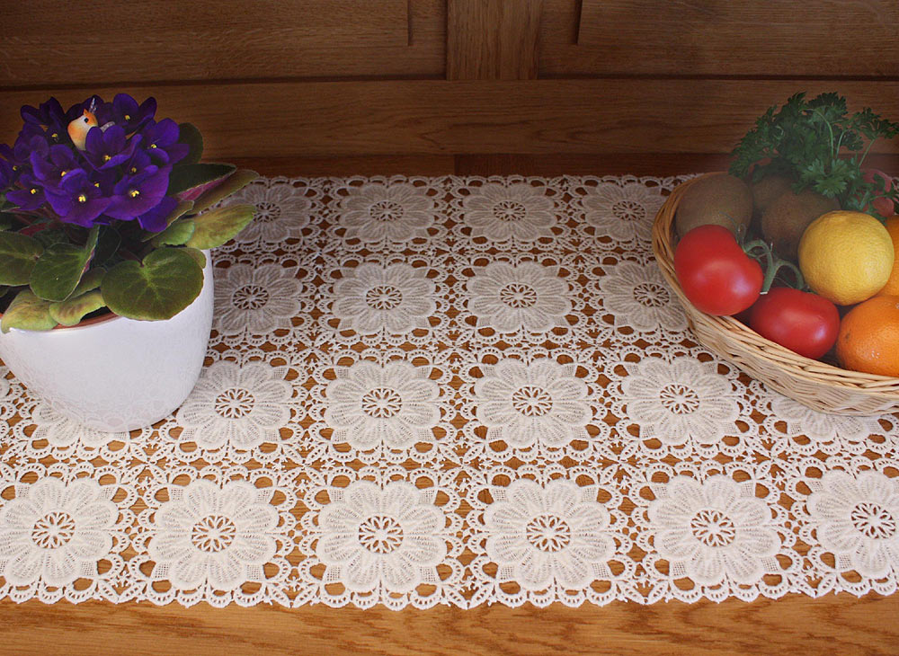 Runner Table  Macrame Lace Chambord table short length runner