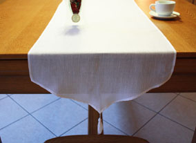 Linen table-runner