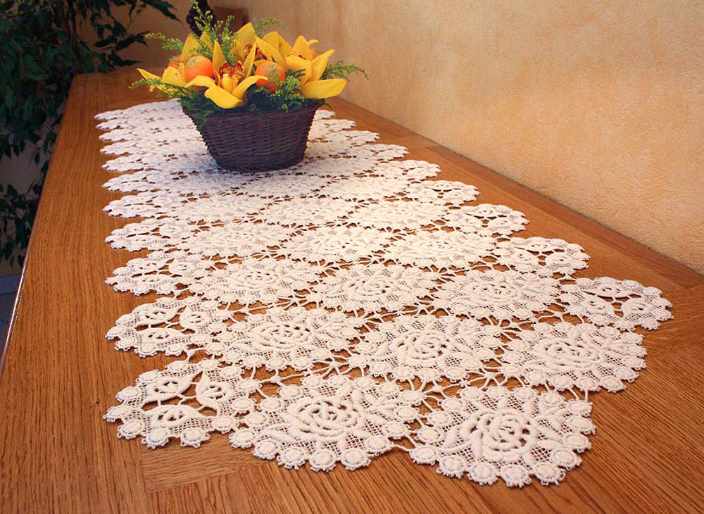 small table runner quality macrame lace table runner 2374