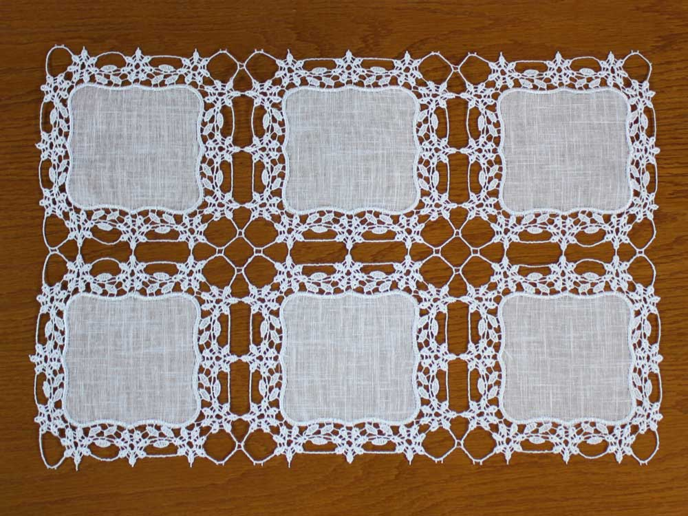 "small lace doily ""Eloise"" in ivory color"