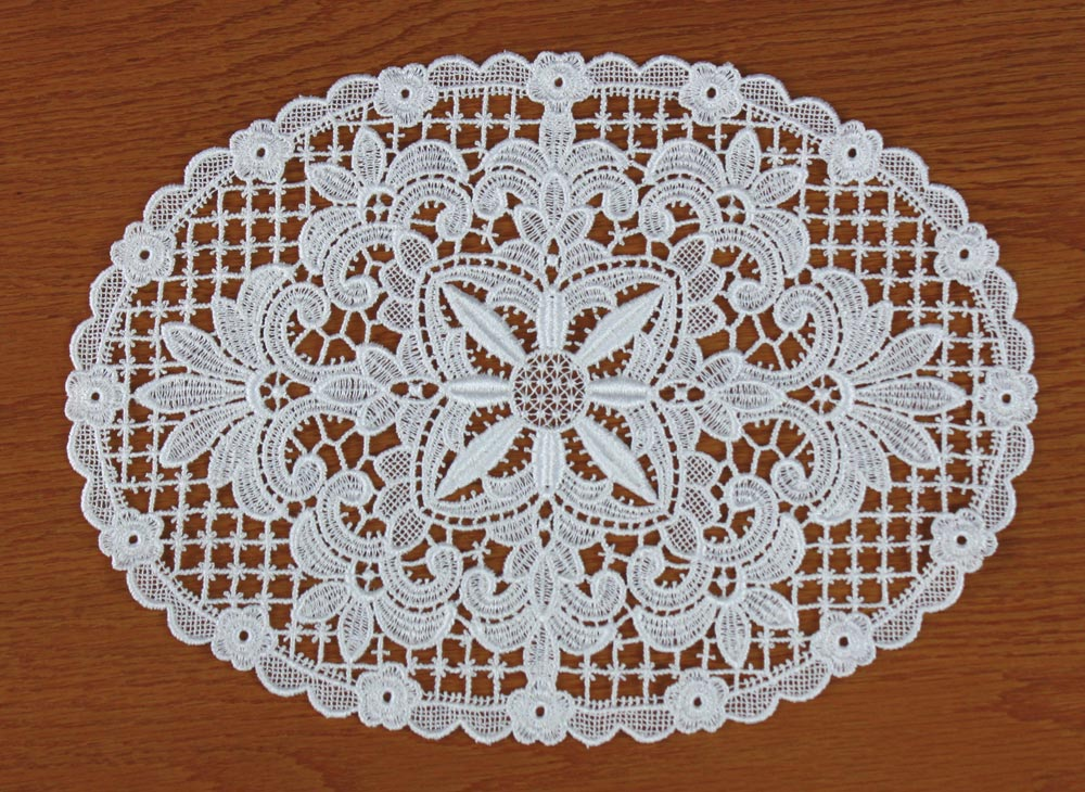 "Lace doilies ""Emilie"" in natural"