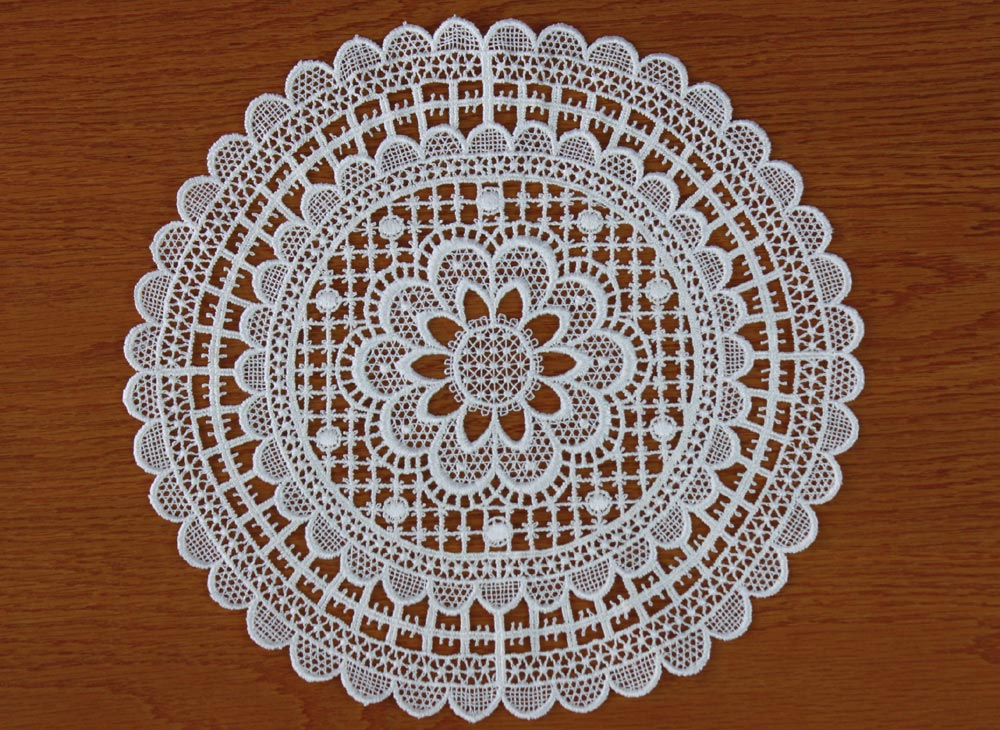 "Lace doilies ""Marie"" in natural"