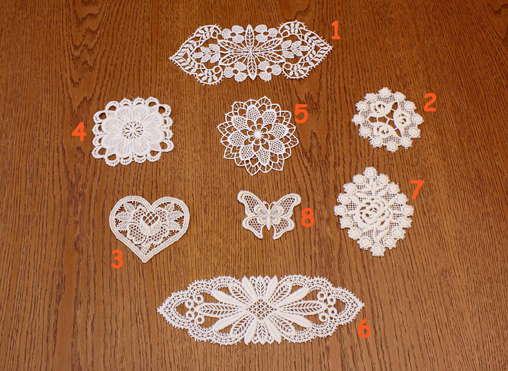 "Small Lace doilies ""Motifs"""