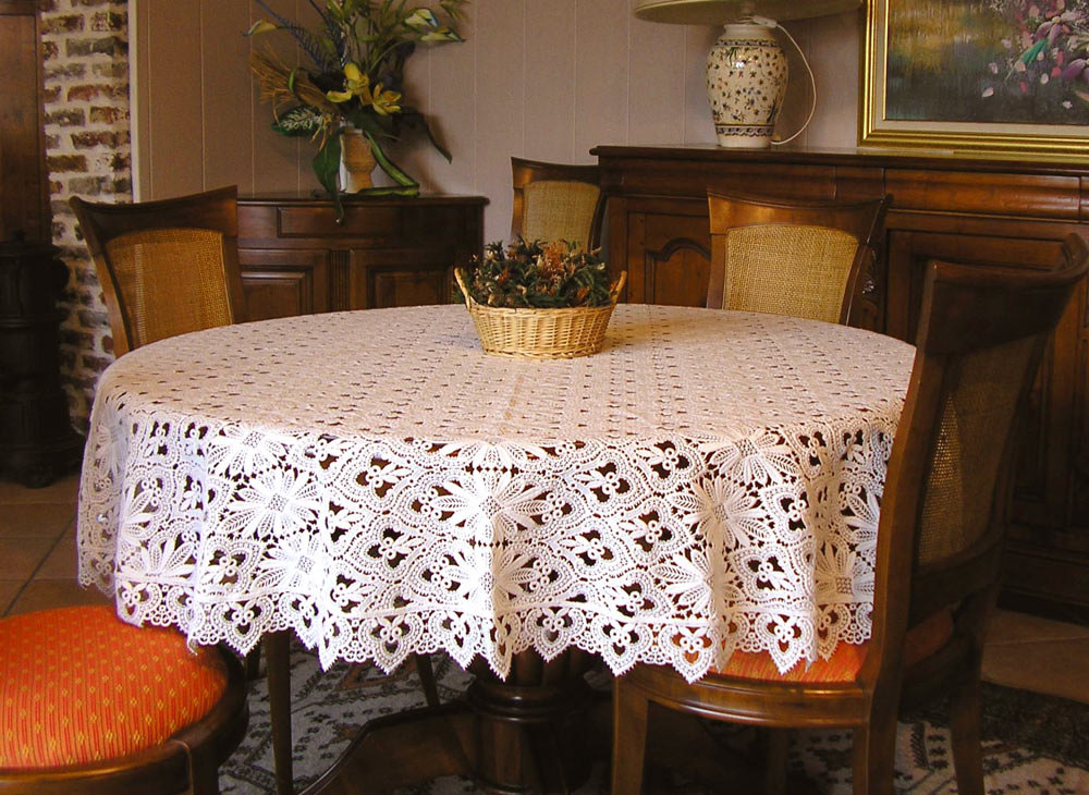 Oval Lace Tablecloth Tradition