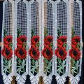 poppy lace curtain in 24 inches