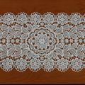 Zoom Lace doily 12 X 32 inc in natural
