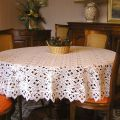"Lace Tablecloth ""Tradition"" in ecru"