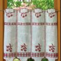 cherry tier kitchen curtain