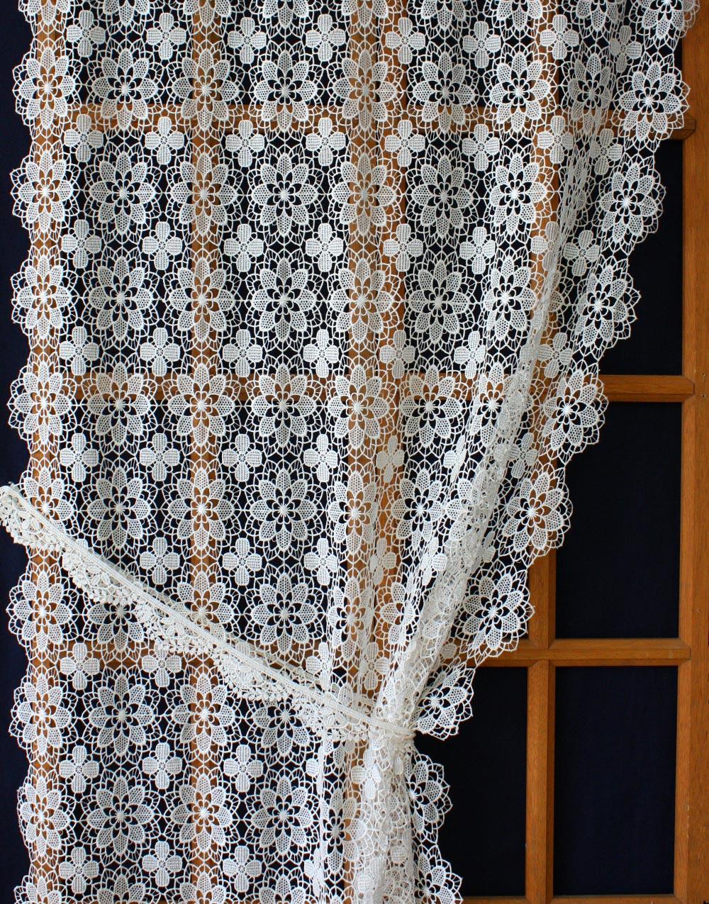 French macrame lace curtains - Rideaux anciens dentelle ...