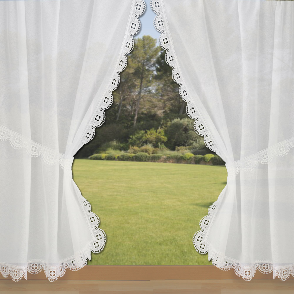 Lace trimmed curtain Myosotis