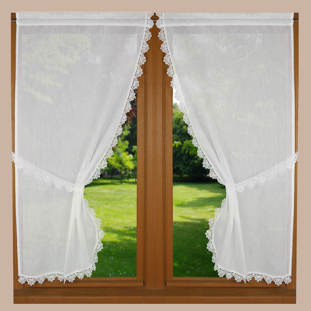 White tie back curtain Petit Tradition