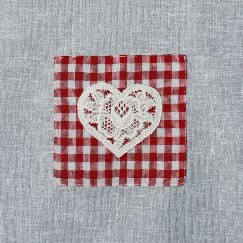 red gingham french kitchen curtain