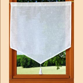 look Linen pointed curtain