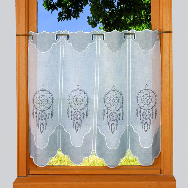 Dream catcher embroidered cafe curtains