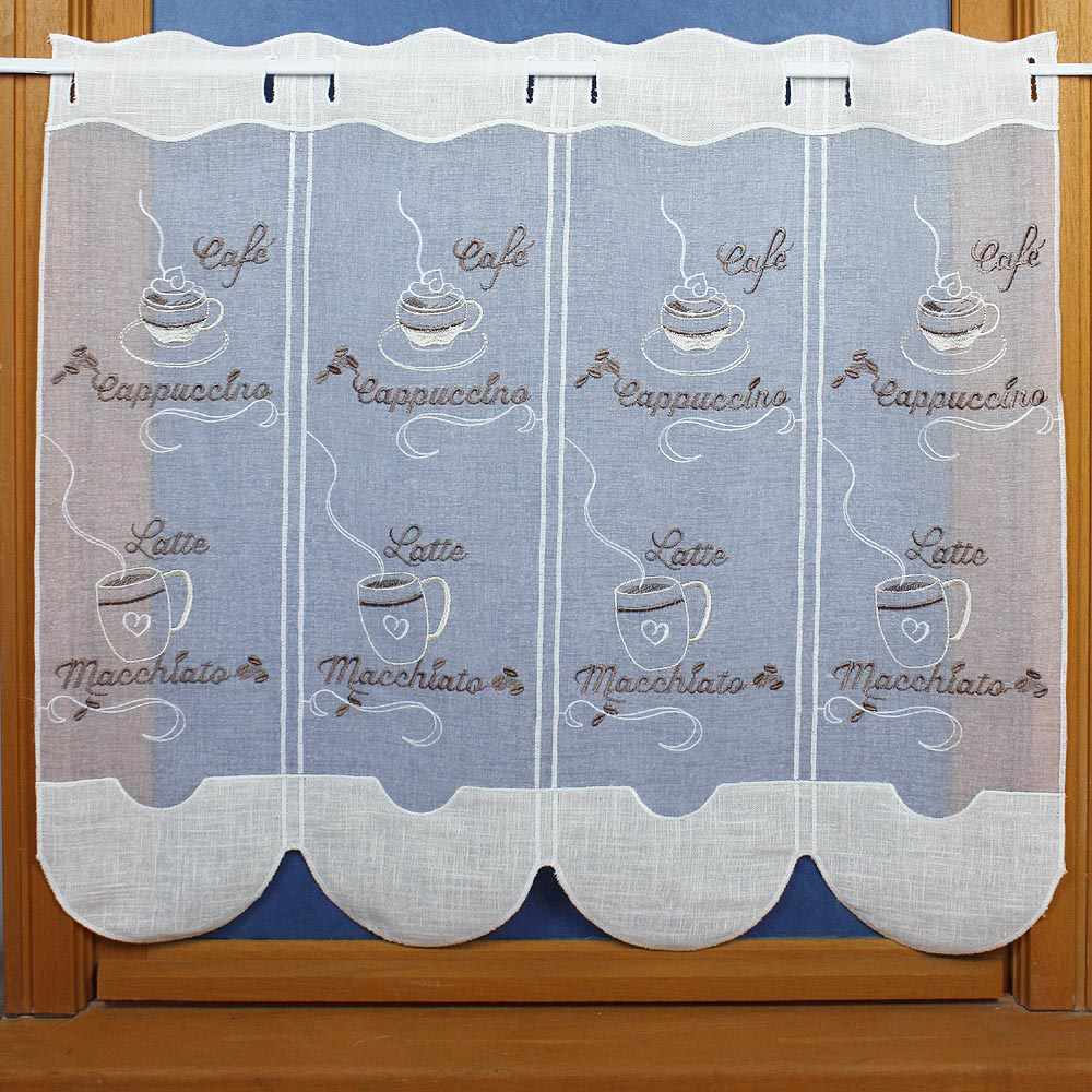 embroidered kitchen curtain 26 inc height
