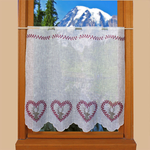 Deer lace curtain