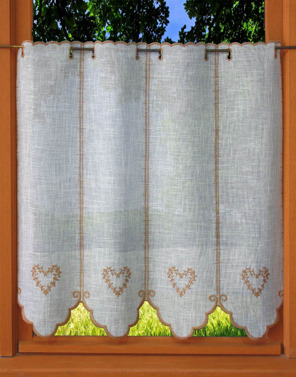 tier lace curtain in 24 inches height