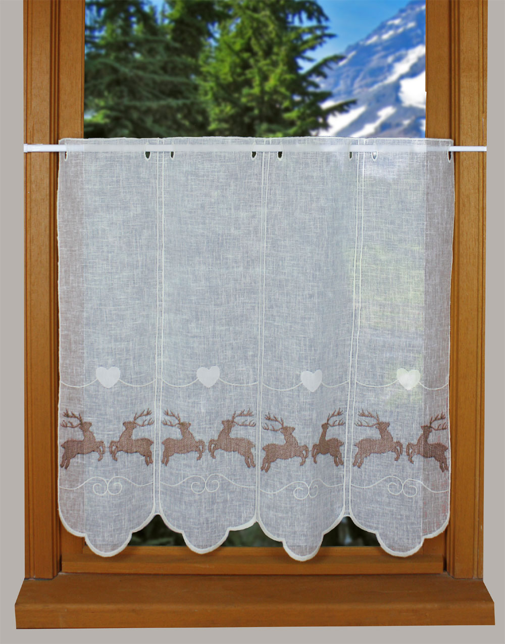 Roe Deer curtain in 24 inches height