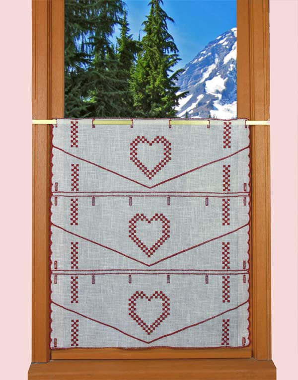 Heart lace curtain