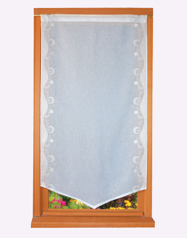 contemporain embroidered curtain