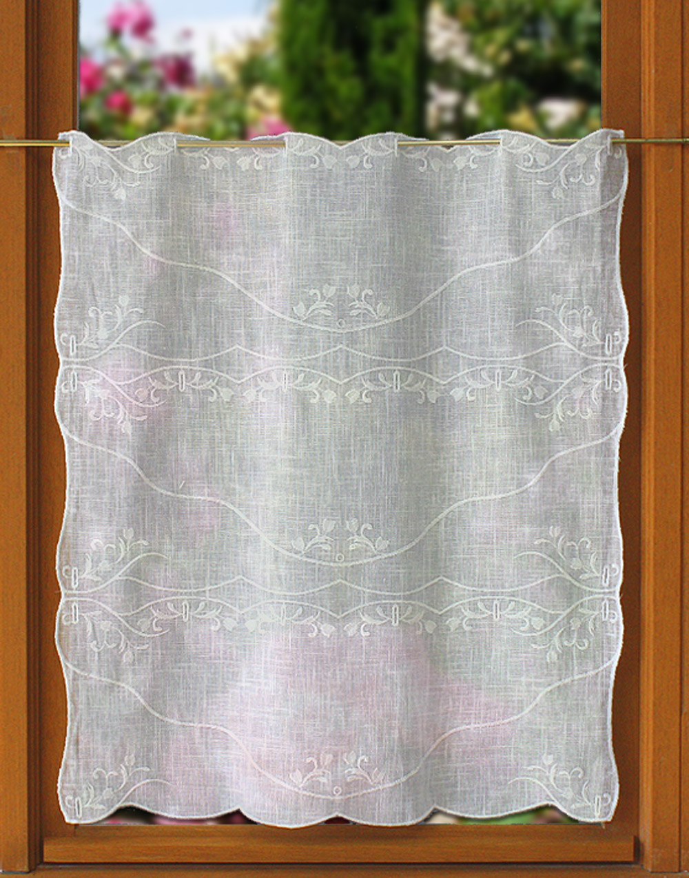 Eglantine tier curtain 24.8 inc height