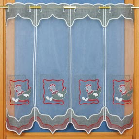 farm emroidered curtain