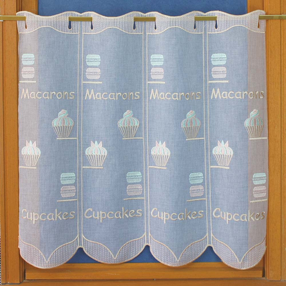 Kitchen lace curtain in 24 inches height
