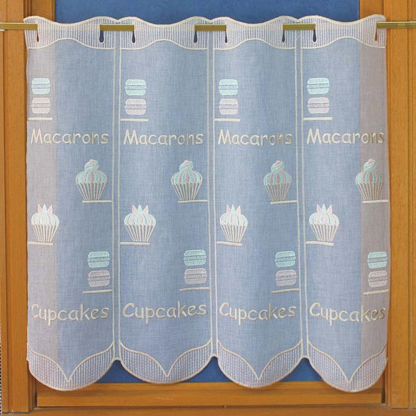 Macarons cafe curtain