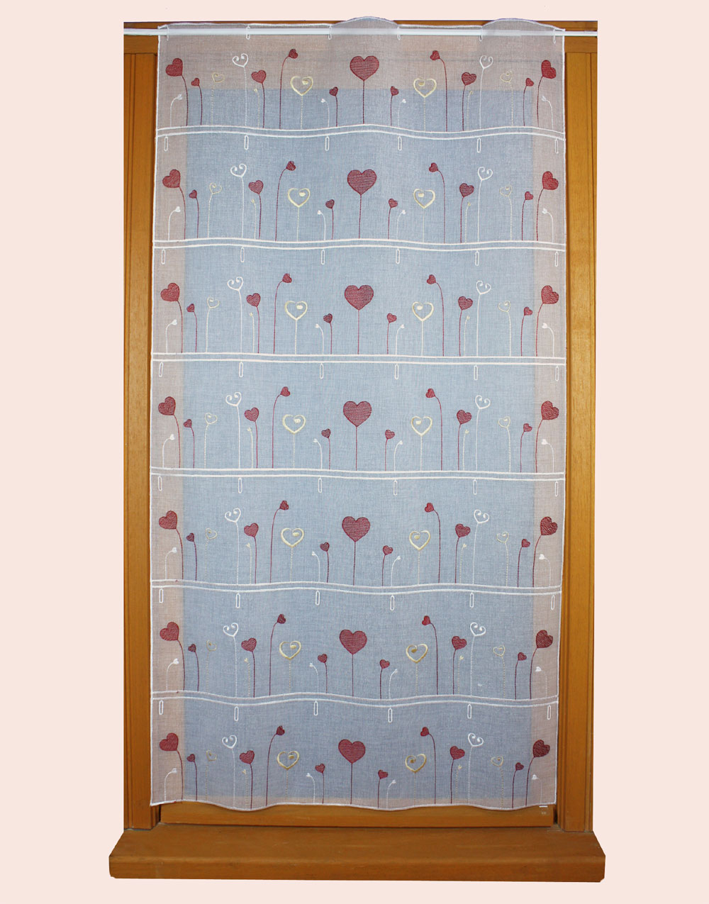 small heart Embroidered curtain