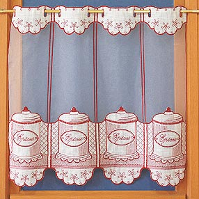 Spice jar curtains