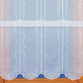 Store embroidered curtain