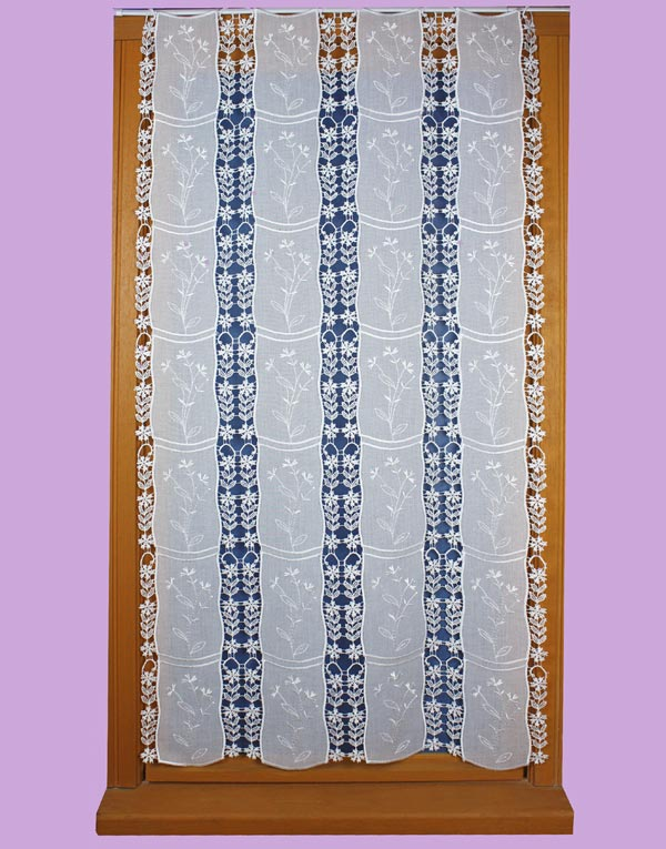 etamine and Lace flowers curtain
