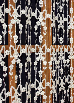 Daisies macrame lace curtains