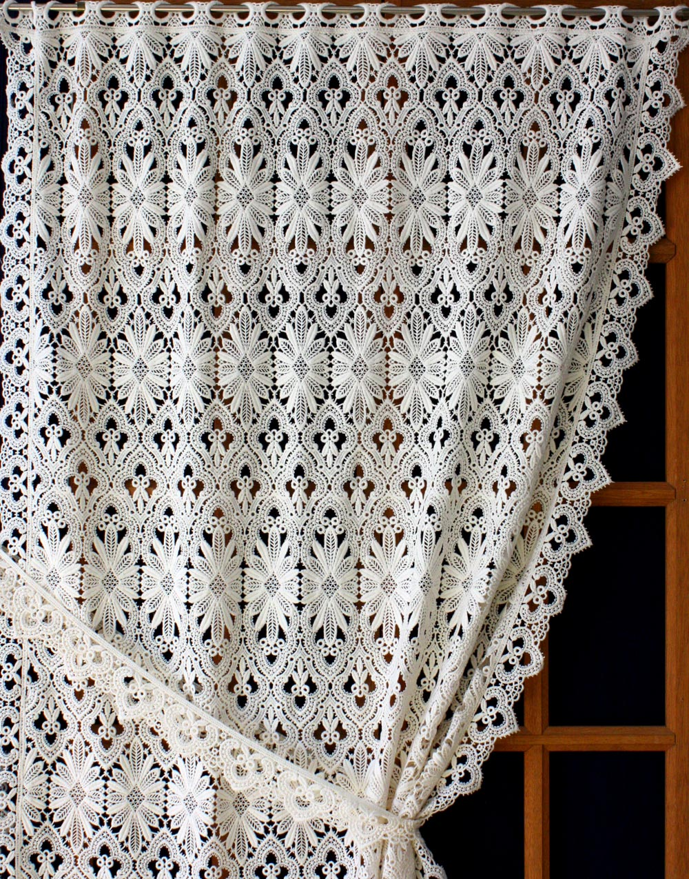 Macrame Lace Cafe Curtain Amp Valance Curtain