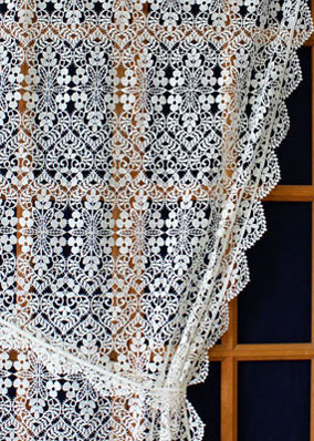 Valentine lace curtain