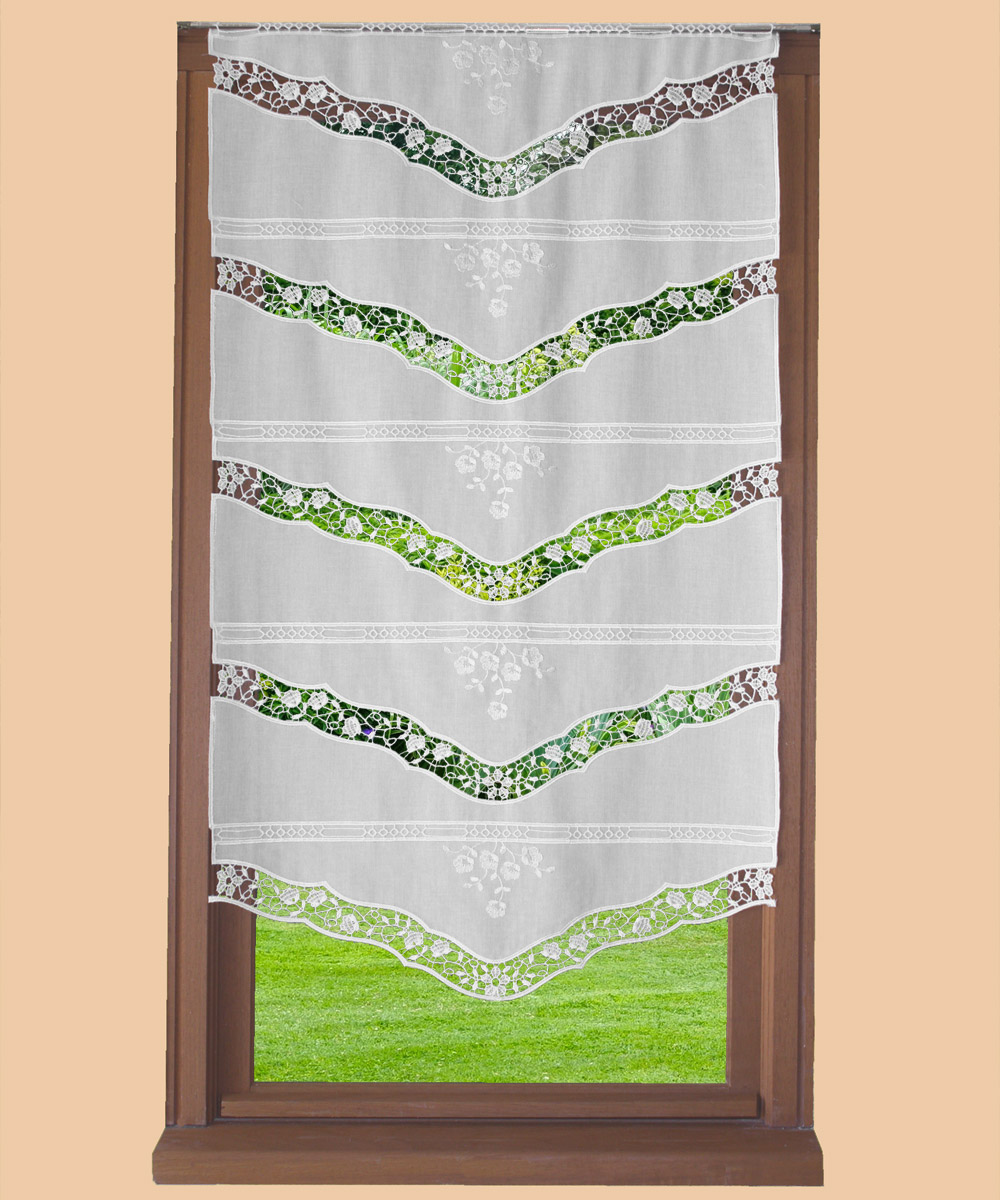 Cafe curtain venise natural white 40 inc height