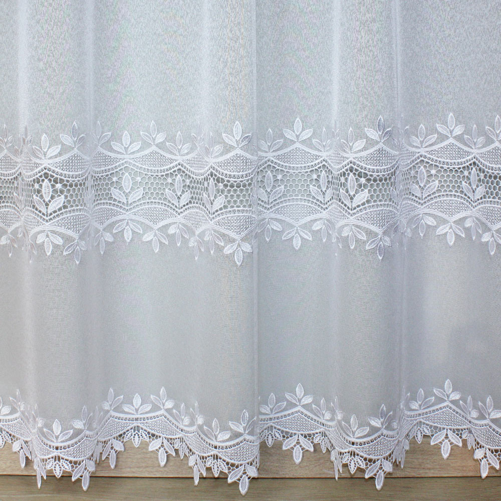 Voile Curtain By The Yard With Macrame Lace