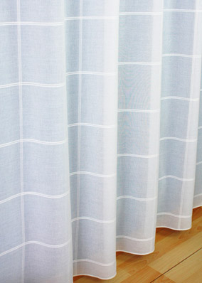 square sheer curtain