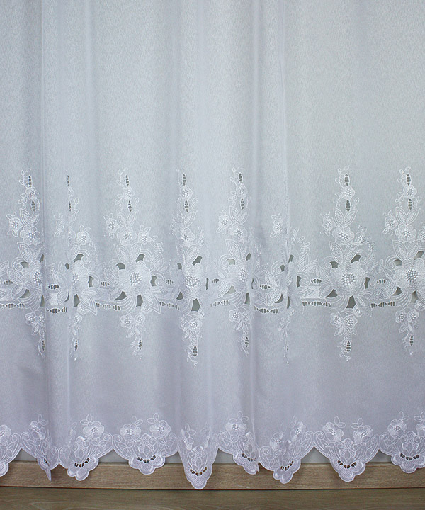 White openwork sheer curtain clhoe