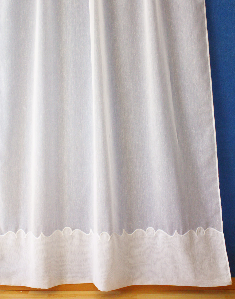 "Ecru Sheer curtain ""Cornely"""