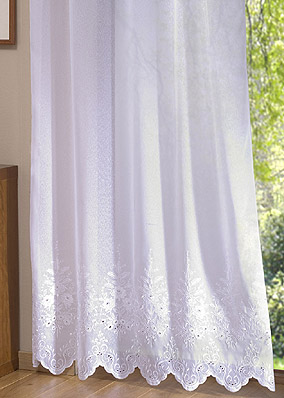 Fleurs sheer curtain by the yard