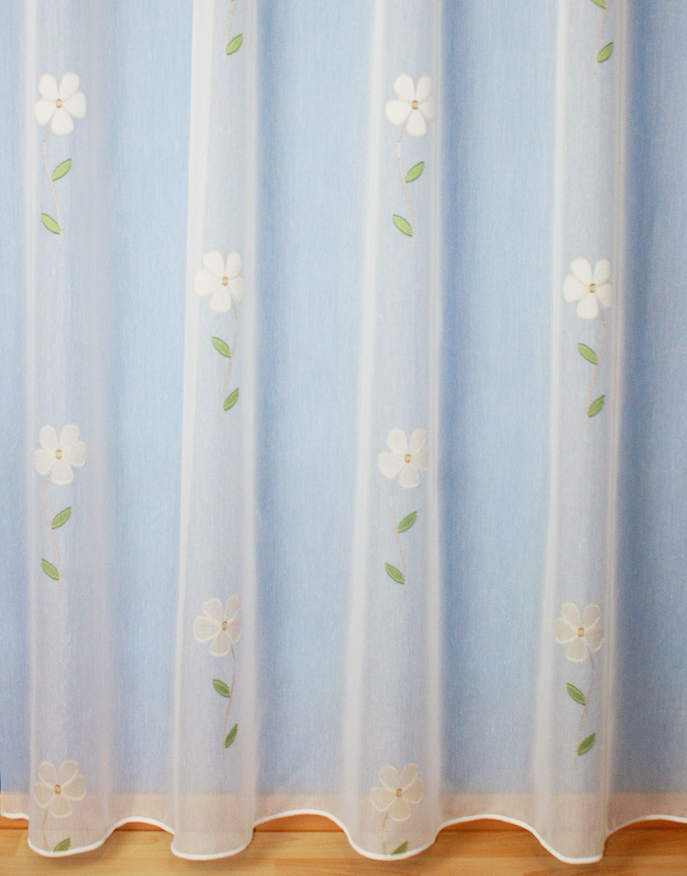 "Withe sheer curtain ""Romantique"""