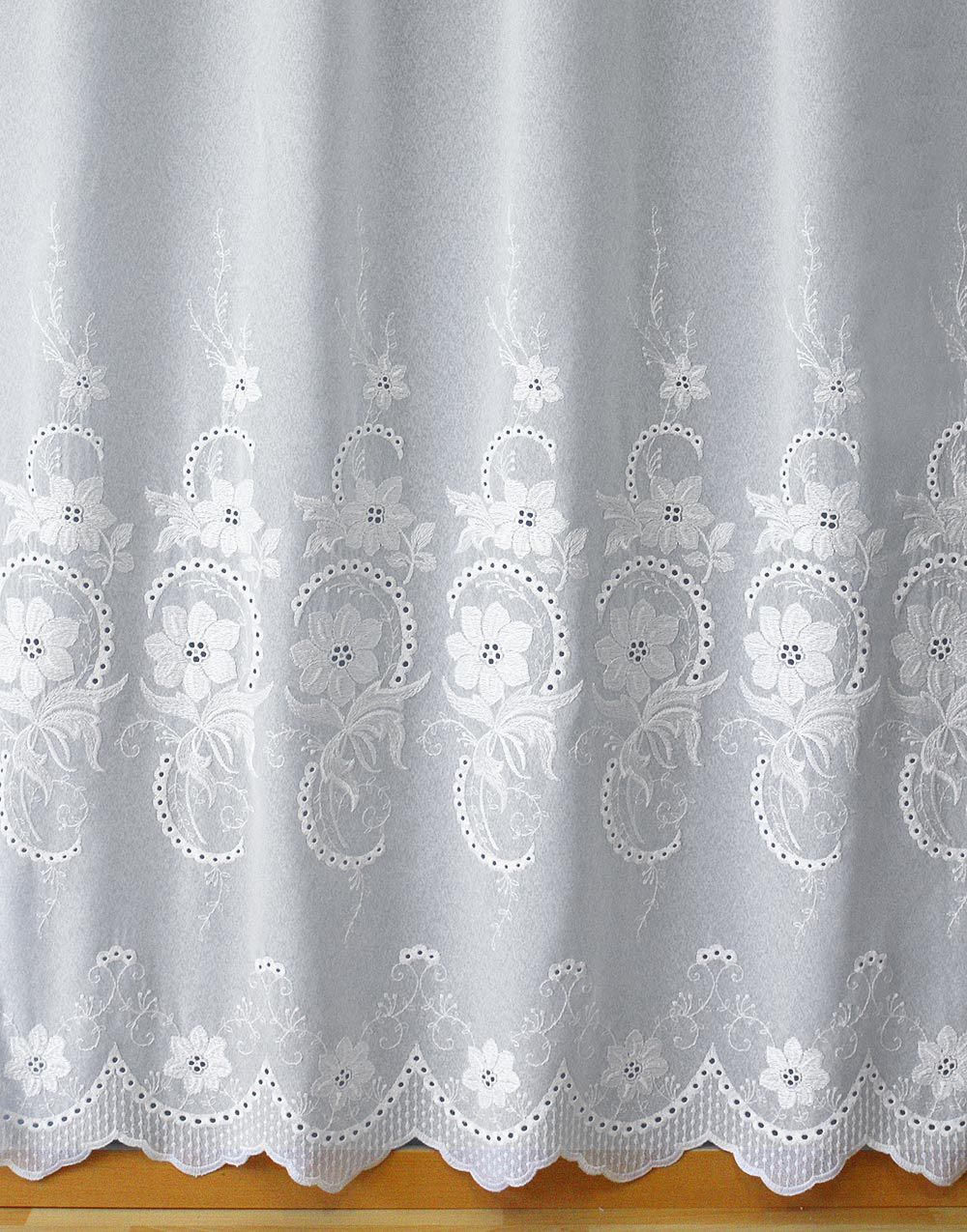 "White Sheer curtain ""Sarah"""