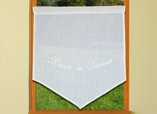 customisable embroidered curtain